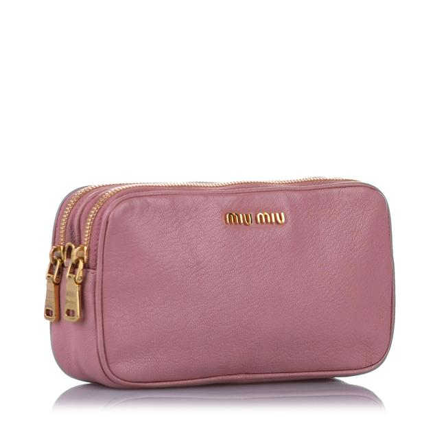 Item - Double Pink Leather Cross Body Bag
