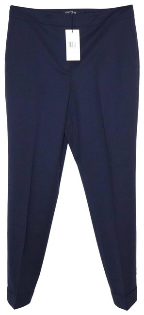 Item - Blue Finesse Crepe Cuffed Slim Fit Clinton In Ink Pants Size 14 (L, 34)
