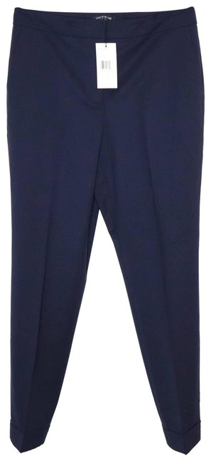 Item - Blue Finesse Crepe Cuffed Slim Fit Clinton In Ink Pants Size 10 (M, 31)