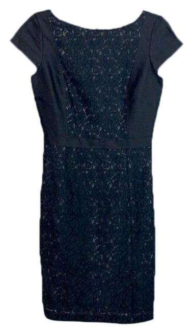 Item - Black With Lace Short Work/Office Dress Size 4 (S)