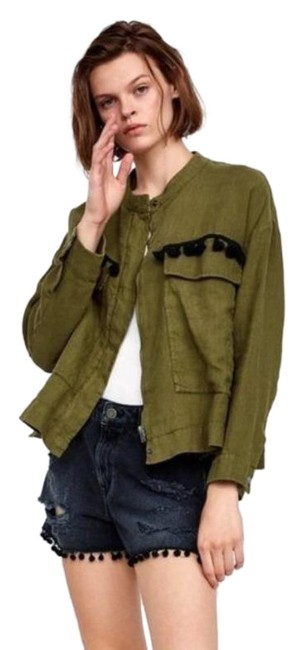 Item - Green Tassel Embroidered Jacket Size 10 (M)