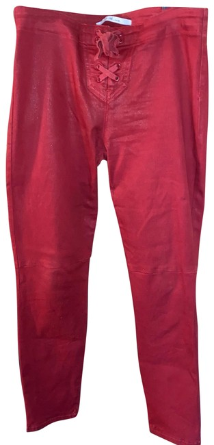 Item - Red Coated Taylor Hill X Icon Pants Straight Leg Jeans Size 8 (M, 29, 30)