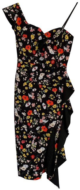 Item - Multicolor Ruffled One-shoulder Mid-length Night Out Dress Size 0 (XS)
