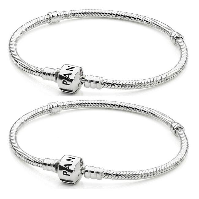 Item - 925 Sterling Silver Barrel Clasp with Tags Size 7.9 Bracelet