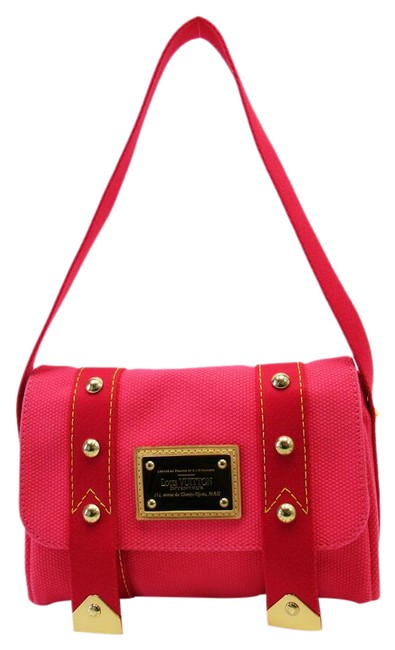Item - Antigua Sack Mule M40073 Pink Canvas Shoulder Bag
