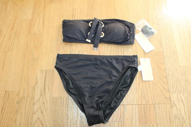 Item - Black Silver 2 Piece Lace Up S Wear Bikini Set Size 6 (S)