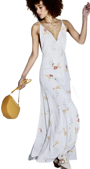 Item - White Maxine Wrap Long Casual Maxi Dress Size 8 (M)
