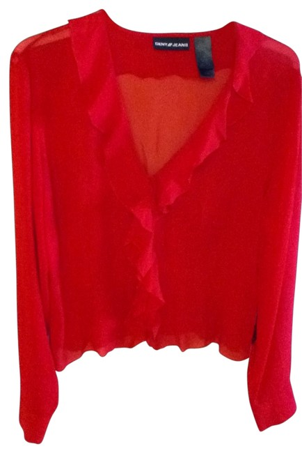 Preload https://item3.tradesy.com/images/dkny-red-blouse-size-8-m-28797-0-0.jpg?width=400&height=650