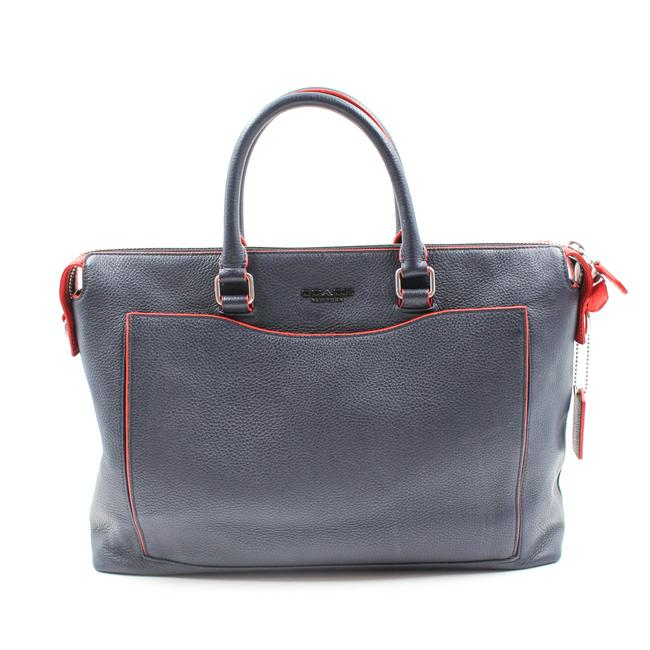 Item - Two-way Navy and Red Leather Shoulder Bag