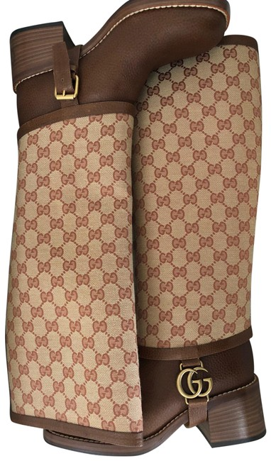 Item - Brown/Tan Lola Gg Supreme Leather Boots/Booties Size EU 37 (Approx. US 7) Regular (M, B)