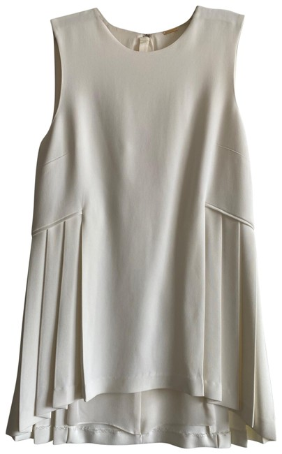Item - Off White Pleated Blouse Size 4 (S)