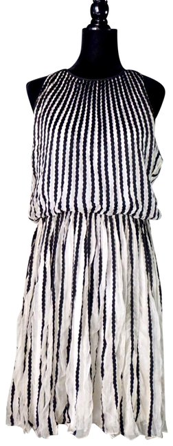 Anthropologie Black & White Martinique Halter Flawed New Short Night Out Dress Size 8 (M) Anthropologie Black & White Martinique Halter Flawed New Short Night Out Dress Size 8 (M) Image 1