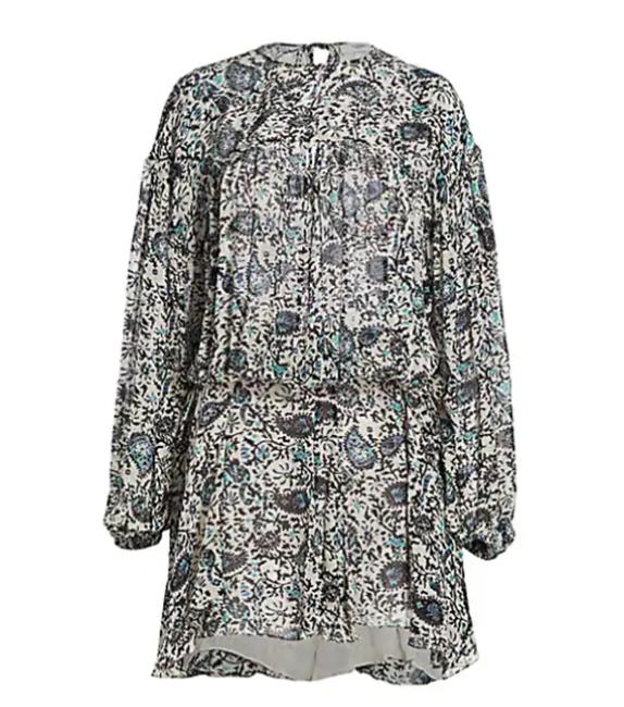 Item - Brown Multi Etoile Nimazu Paisley Puff-sleeve Mid-length Short Casual Dress Size 2 (XS)