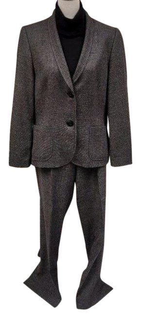 Item - Gray Black Fully Lined Double Button Pant Suit Size 10 (M)