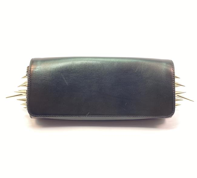 Item - Marquise Crystal Strass Black Leather Clutch