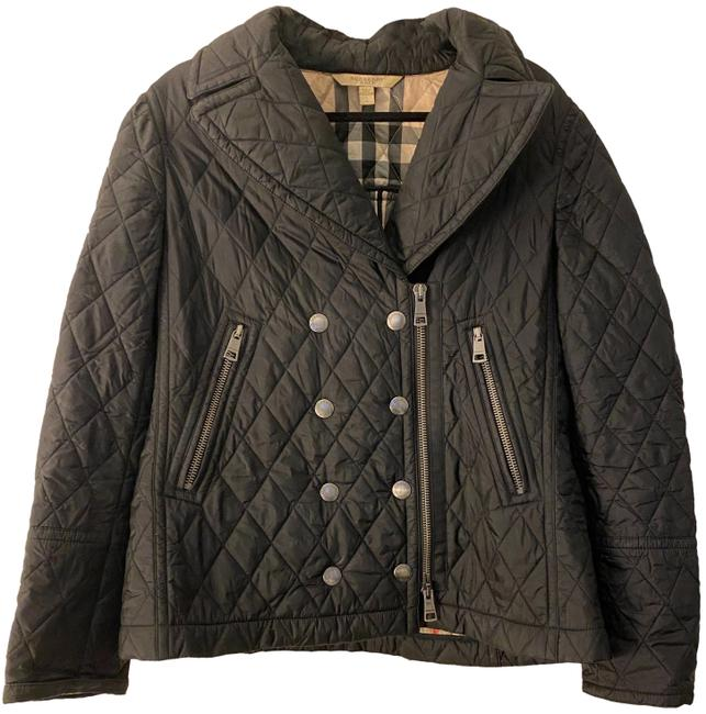Item - Black Quilted Double Breasted Jacket Size 12 (L)