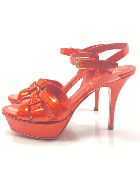 Item - Red Tribute Ysl Yves Flame Patent Leather Heels Sandals Size EU 36 (Approx. US 6) Regular (M, B)