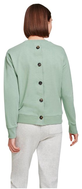 Item - Green French Terry Button Back Sweatshirt/Hoodie Size 2 (XS)