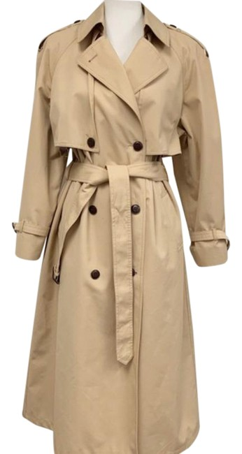 Item - Tan Brown Vintage 1970s Belted Trench Coat Size Petite 12 (L)
