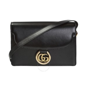 Item - Gg Ring Black Leather Shoulder Bag