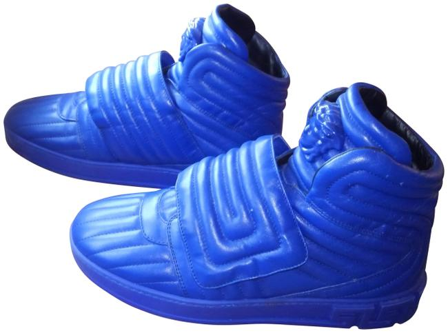 Item - Blue Quilted Palazzo Medusa Head Sneakers Size EU 41 (Approx. US 11) Regular (M, B)