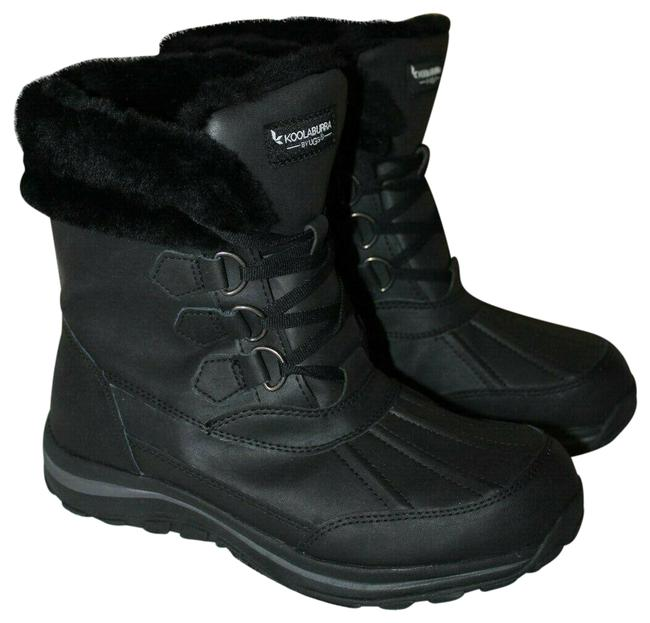Item - Black Koolaburra Neda Leather Snow Fur Lined Boots/Booties Size US 7.5 Regular (M, B)