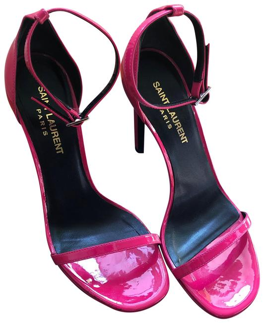 Item - Pink Jane Ysl 105 Ankle Strap Heels Bubblegum Sandals Size EU 36 (Approx. US 6) Regular (M, B)