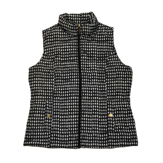 Charter Club Black White Houndstooth Puffer Vest Size Petite 8 (M) Charter Club Black White Houndstooth Puffer Vest Size Petite 8 (M) Image 2