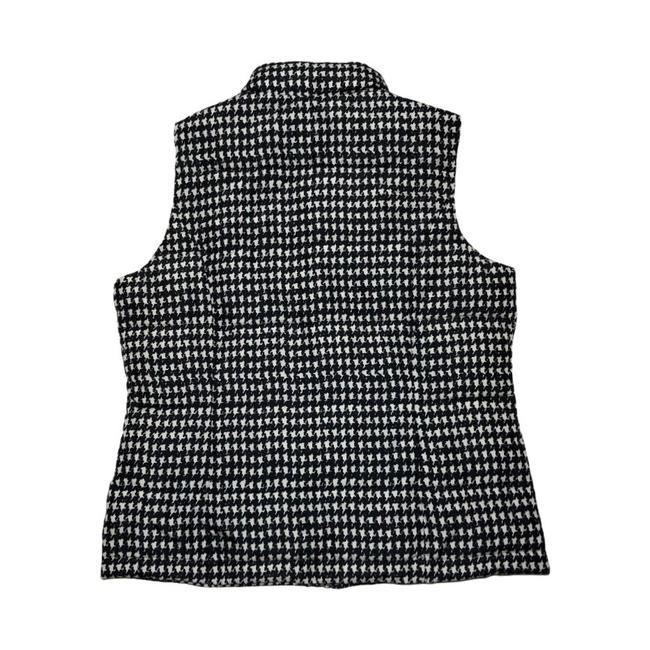 Charter Club Black White Houndstooth Puffer Vest Size Petite 8 (M) Charter Club Black White Houndstooth Puffer Vest Size Petite 8 (M) Image 3
