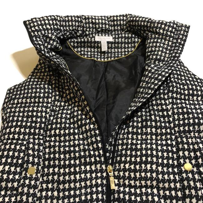 Charter Club Black White Houndstooth Puffer Vest Size Petite 8 (M) Charter Club Black White Houndstooth Puffer Vest Size Petite 8 (M) Image 4