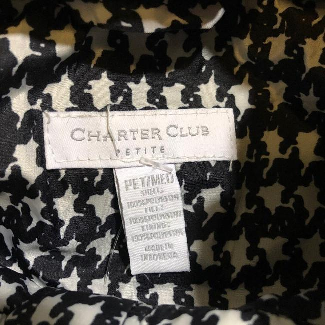 Charter Club Black White Houndstooth Puffer Vest Size Petite 8 (M) Charter Club Black White Houndstooth Puffer Vest Size Petite 8 (M) Image 6