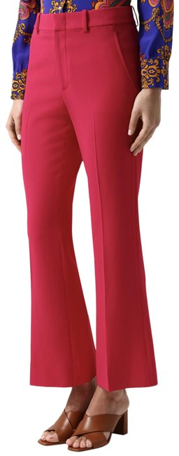 Item - Pink Deep Stretch Crepe High Rise Trousers Pants Size 8 (M, 29, 30)