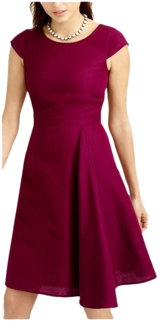 Item - Red Julia Classic Faille Crushed Berry Maroon Burgundy Mid-length Casual Maxi Dress Size 2 (XS)