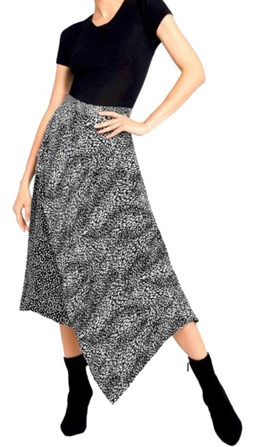 Item - Black and White Alice+olivia Danita Double Layer A-line Skirt Size 2 (XS, 26)