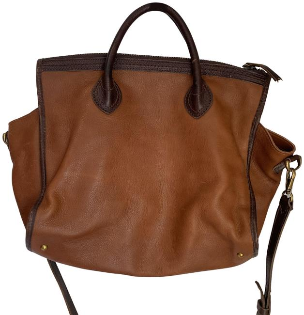 Madewell Convertible Brown Leather Tote Madewell Convertible Brown Leather Tote Image 1