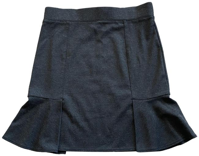 Item - Charcoal Gray Black M Knit Pull On Rayon Blend Unlined Skirt Size 8 (M, 29, 30)