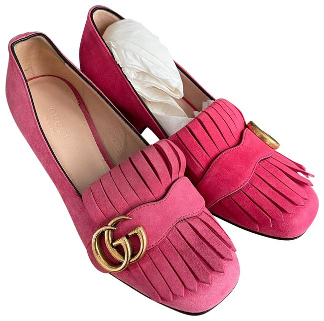 Gucci Pink Marmont New Suede Block Pumps Size EU 35 (Approx. US 5) Regular (M, B) Gucci Pink Marmont New Suede Block Pumps Size EU 35 (Approx. US 5) Regular (M, B) Image 1