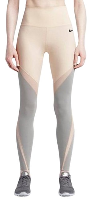 Item - Beige lab Drifit White Multicolor Lab Yoga Running Small Activewear Bottoms Size 4 (S, 27)