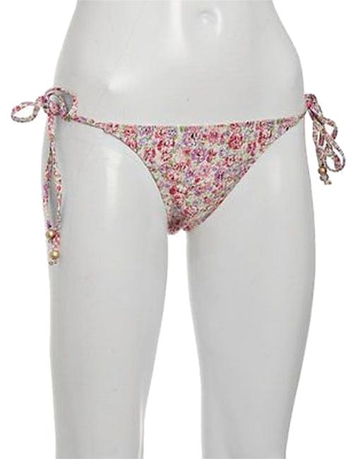 Other ,Lisa,Curran,Pink,Floral,Beaded,Tie,Side,Bikini,Bottom,,