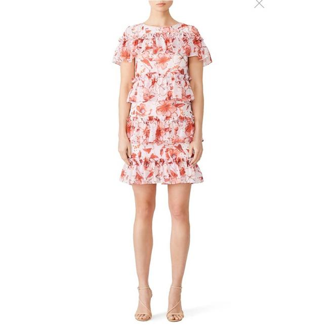 Item - Pink Blush Floral Ruffle Tiered Night Out Dress Size 14 (L)