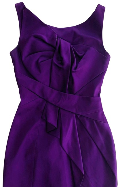 Item - Purple Sheath Satin Bodycon Party Sexy Short Cocktail Dress Size 4 (S)