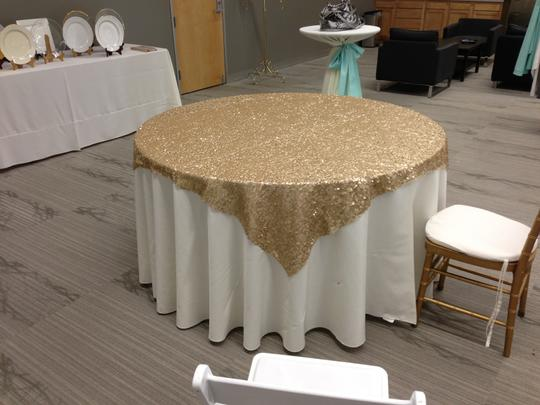 Gold Sequin Table Cloths - 10 Total