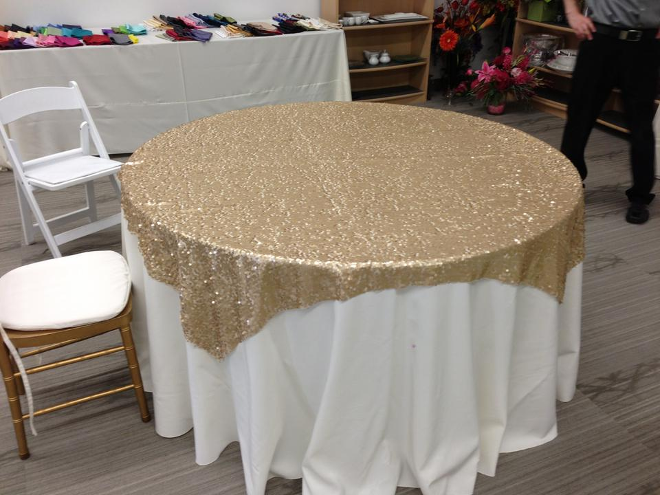Gold sequin table cloths 10 total tradesy for 10 foot table cloths