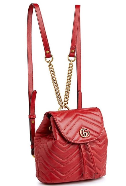 Item - GG Backpack Marmont New Mini Quilted Red Leather Messenger Bag