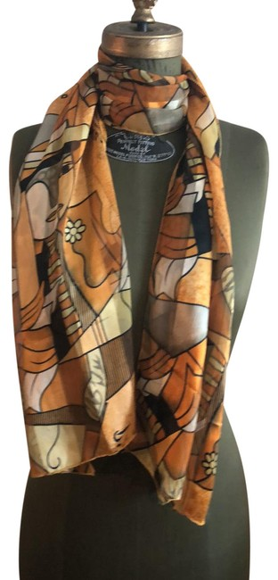 Item - Gold Picasso Art Scarf/Wrap