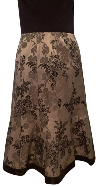 Item - Navy Blue Silver Satin Embroidered Skirt Size 4 (S, 27)