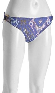 Shoshanna ,Shoshanna,Purple,Ikat,Print,Side,Ring,Bikini,Bottom,