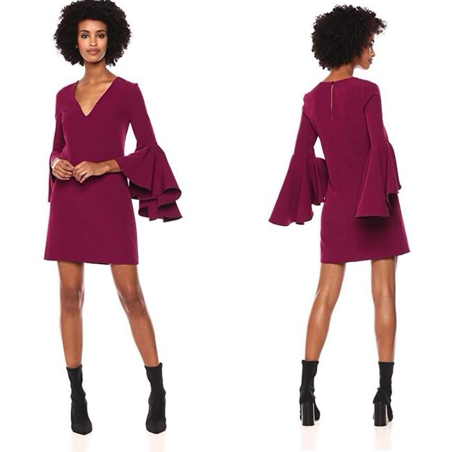 Item - Plum Berry Purple New Unused Color Poly Blend. Dry Clean Only. Fully Lined. Short Cocktail Dress Size 4 (S)