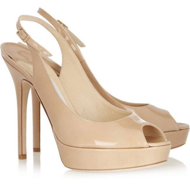 Item - Nude Patent Leather 247 Shaw Platforms Size EU 39 (Approx. US 9) Regular (M, B)