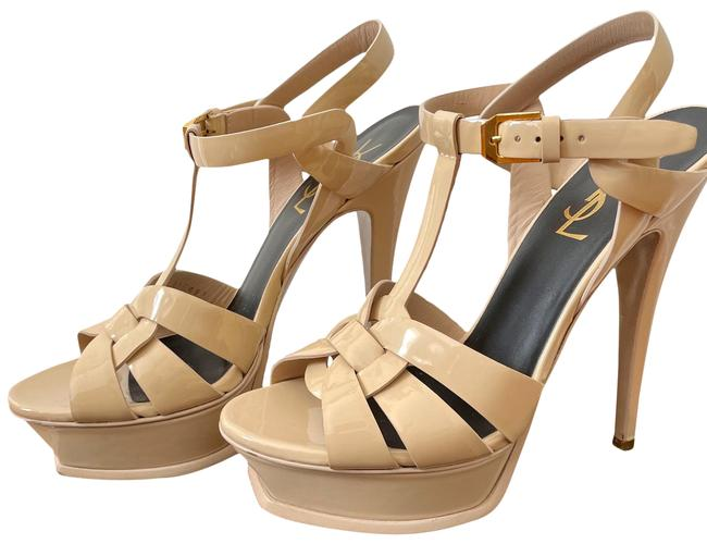 Item - Nude Tribute Sandals In Patent Leather Platforms Size US 6 Regular (M, B)